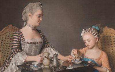 Jean-Étienne Liotard – Lavergne Family Breakfast, Delicious Pastel Painting