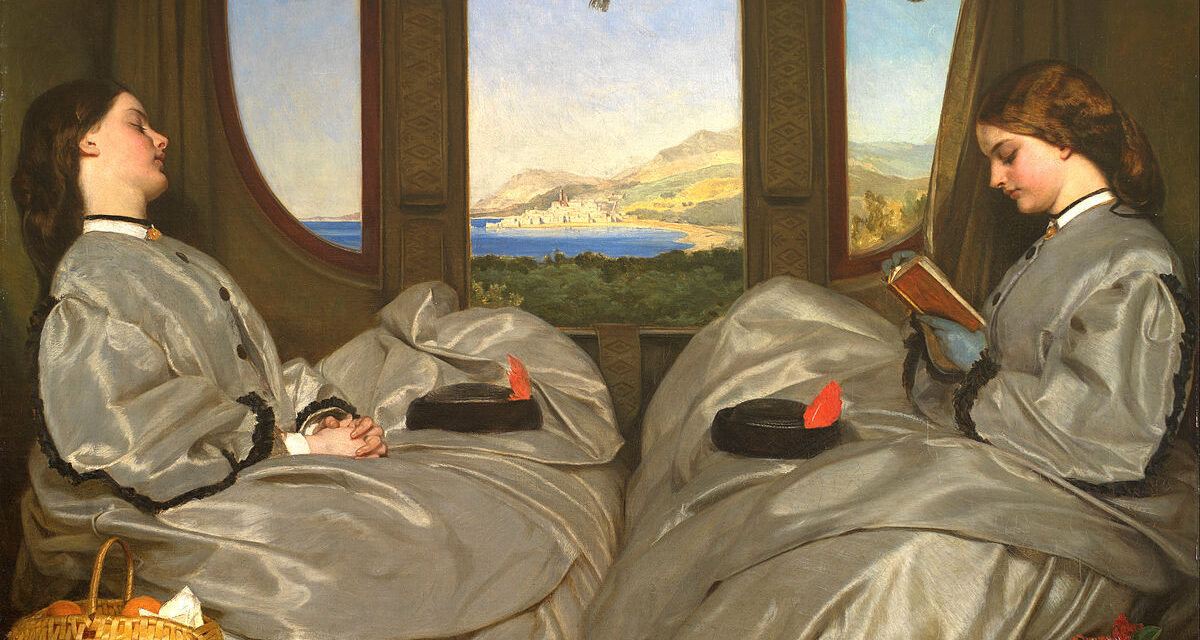 The Travelling Companions, Augustus Leopold Egg 1862 – Prescient Oil-on-Canvas
