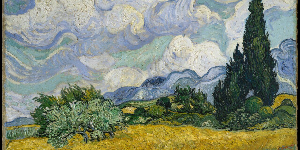 Van Gogh, Wheat Field With Cypresses – Lush Exuberant Study, 1889