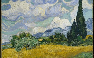 Van Gogh, Wheat Field With Cypresses – Lush Exuberant Study, 1889