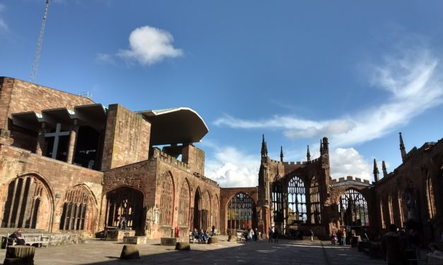Coventry Cathedral Tower – Old Gold in the City Centre
