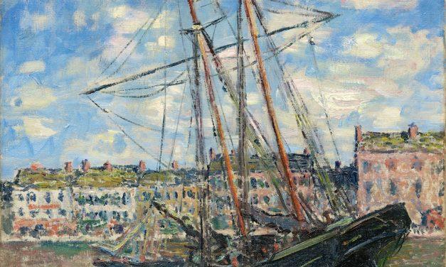 Boat Lying at Low Tide – Monet 1881