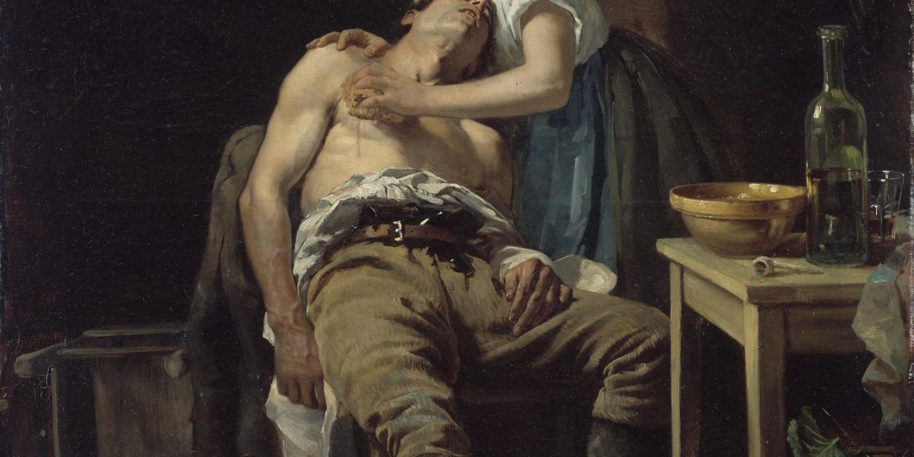 Henry Jones Thaddeus – The Wounded Poacher 1881